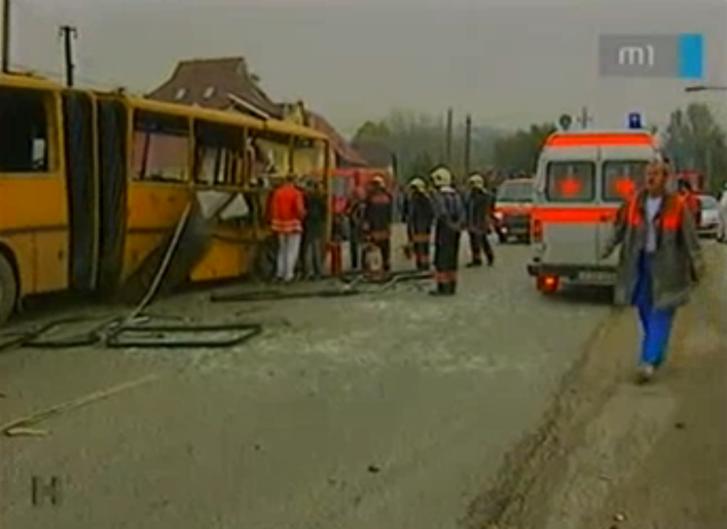A felrobbantott piliscsabai busz