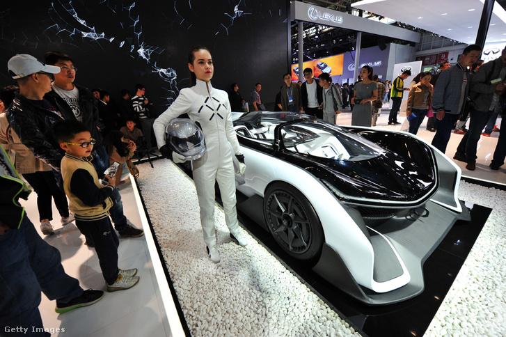 FFZERO1, a Faraday Future koncepcióautója a 2016-os pekingi autókiállításon