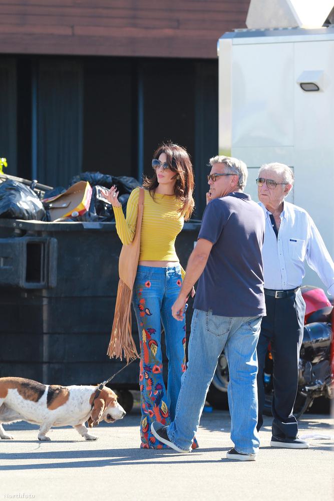 Az egyik az, hogy Amal Clooney remekül fest hippinek öltözve, a másik meg az, hogy George Clooney a látogatás idején sem tudott elszakadni a munkájától, hiszen a telefon végig ott volt a fülén.