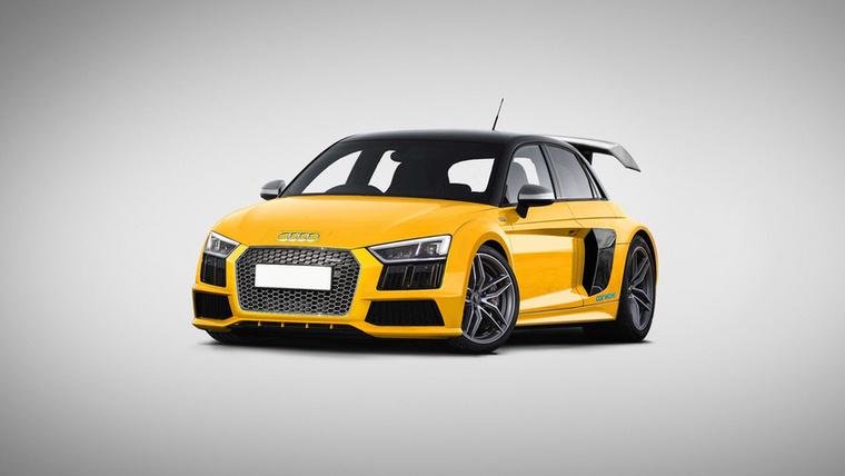 Audi R8S1: Audi R8 V10-ből és S1-ből kotyvasztották ezt a kis méregzsáknak kinéző gépet