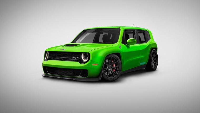 Dodgy Renecat: a Dodge Challenger Hellcat és a Jeep Renegade házasításából született