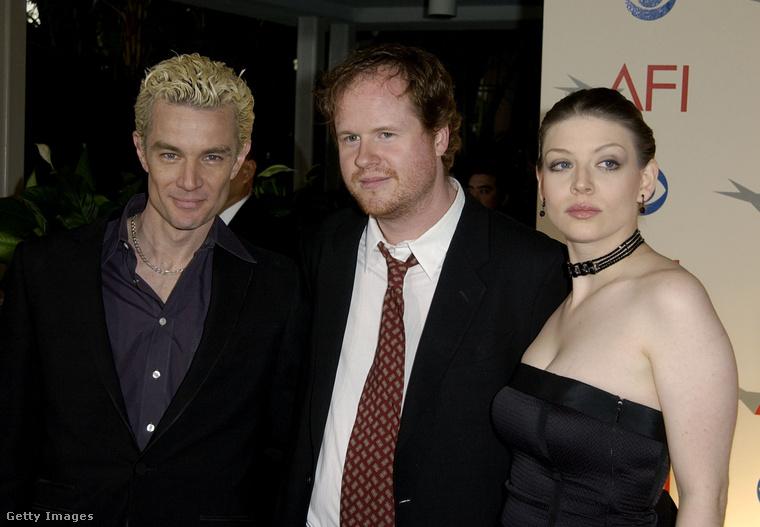 Marsters, Whedon és a Tarát alakító Amber Benson 2001-ben