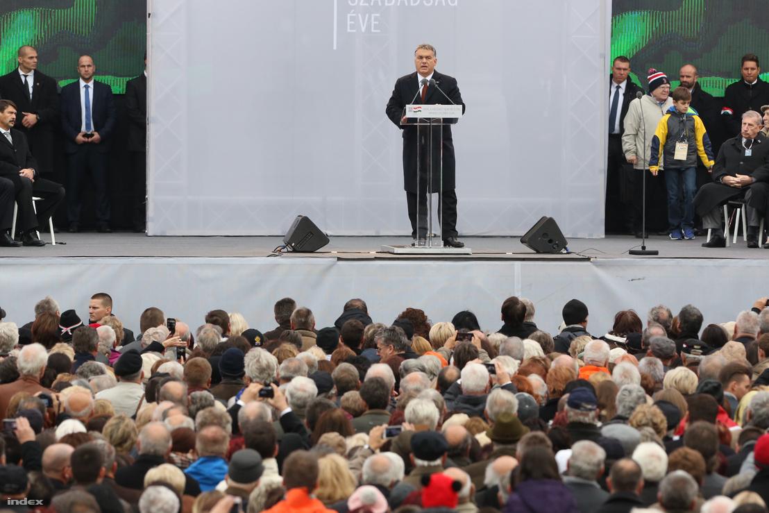 Orbán Viktor beszéde a Kossuth téren