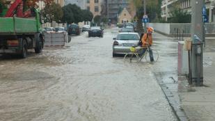 A Kárpát utcában most kipróbálhatja, milyen nagyon sok vízben vezetni