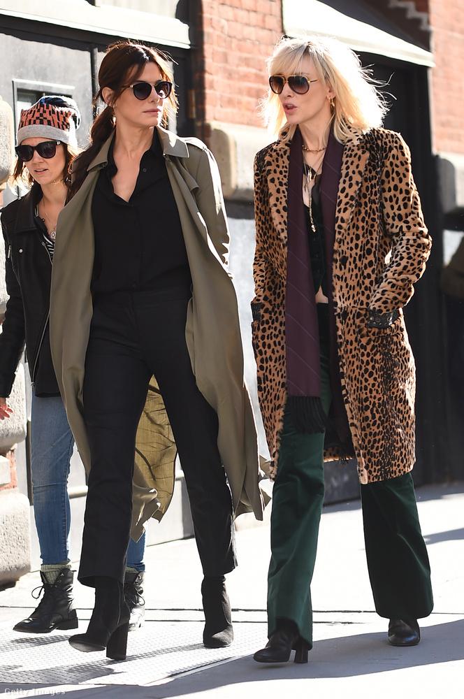 Kate Blanchett igen jól mutat az ocelotmintás kabátban