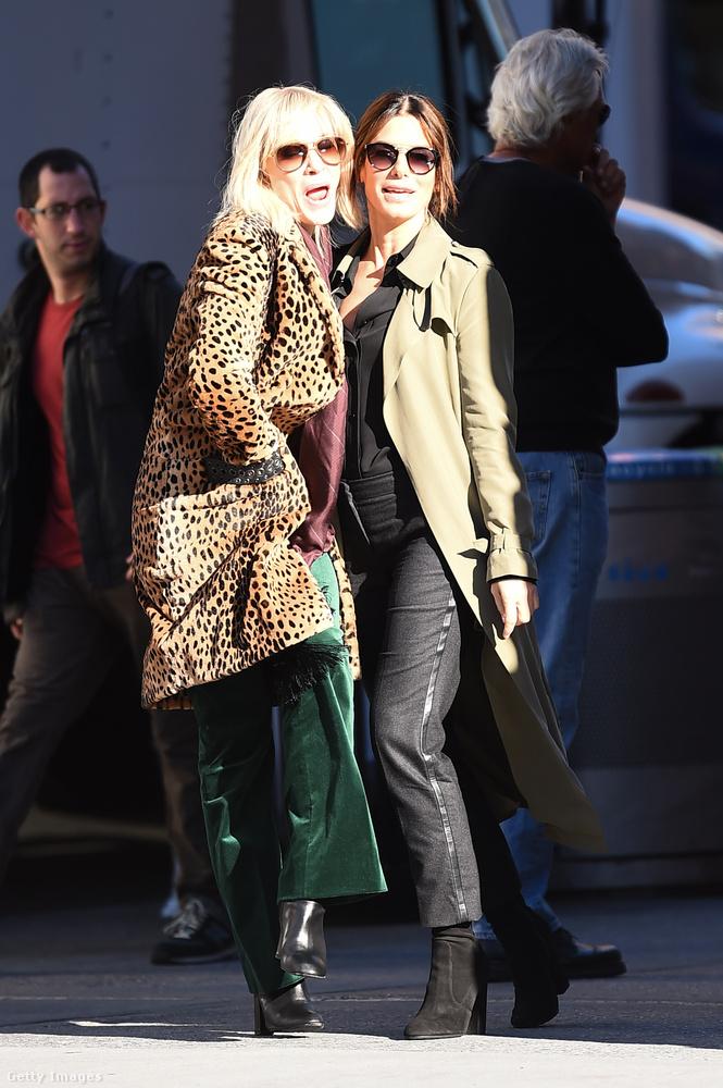A legújabb Ocean's film folytatásában, az Ocean's Eight-ben forgat együtt Kate Blanchett és Sandra Bullock