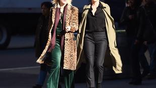 Így néz ki két szuperdögös színésznő az Ocean's Eight forgatása közben
