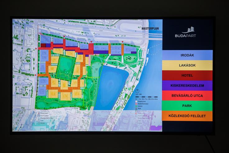 A településszerkezeti terv a dán Adept munkája