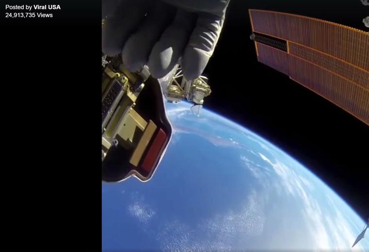 Élőben az űrből.
