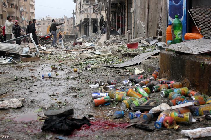 Légitámadás helyszíne Rakkában
