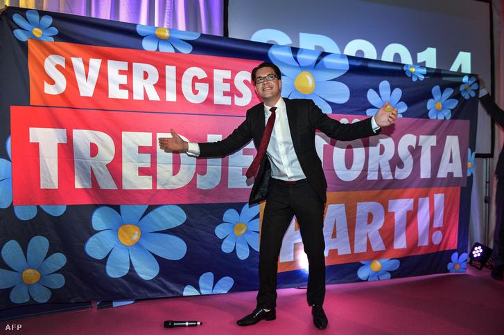 Jimmie Akesson, a svéd Nemzeti Demokrata Párt elnöke - nem viccelnek