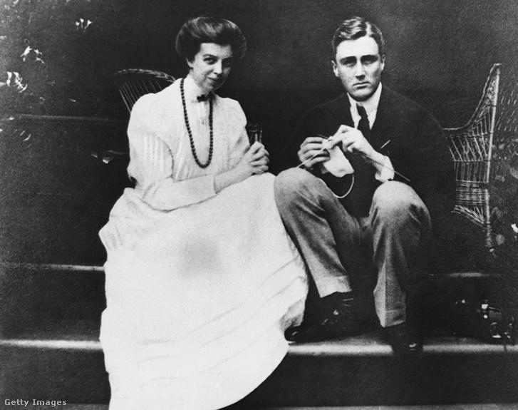 Eleanor és Franklin Roosevelt fiatal házasokként