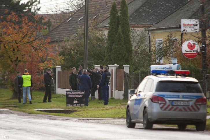 A rendőrgyilkosság helyszíne Bőnyben