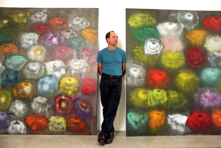 Ross Bleckner és a szóban forgó festmény(variációk)