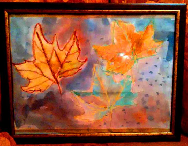 Őszi levelek, az első kép, amit egy gyűjtő meg akart venni, de a szülők nem tudtak tőle megválni.