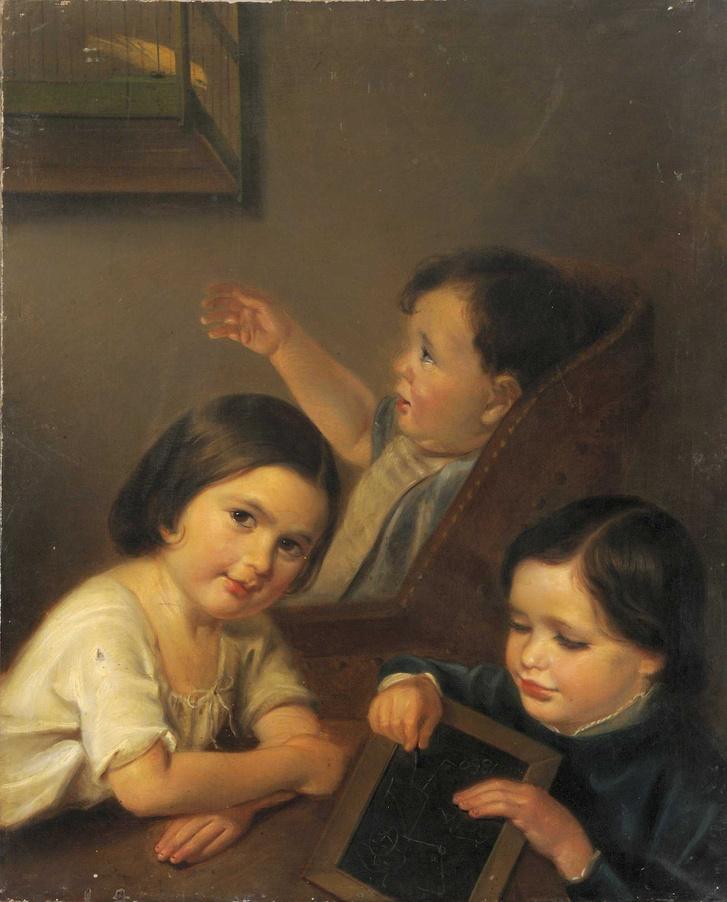 Kann Henrik: A művész gyermekei, 1850