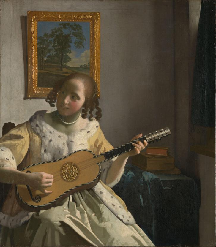 Jan Vermeer - Gitáron játszó nő