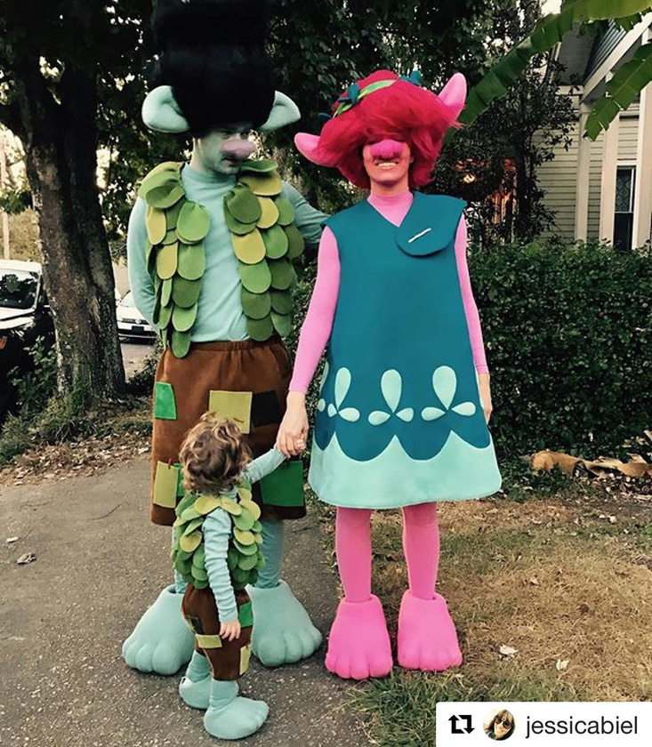 A Timberlake család pedig beállt Trollnak Halloween ünnepére.