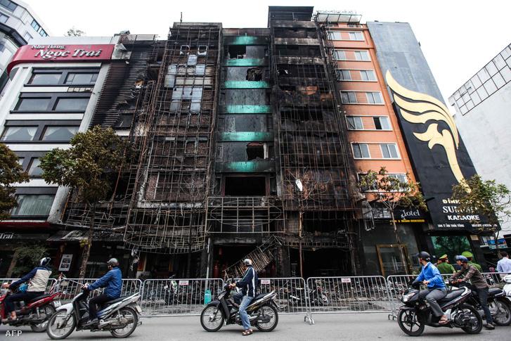 A leégett épület