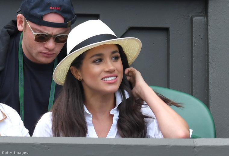 Meghan Markle Wimbledonban 2016 júniusában.