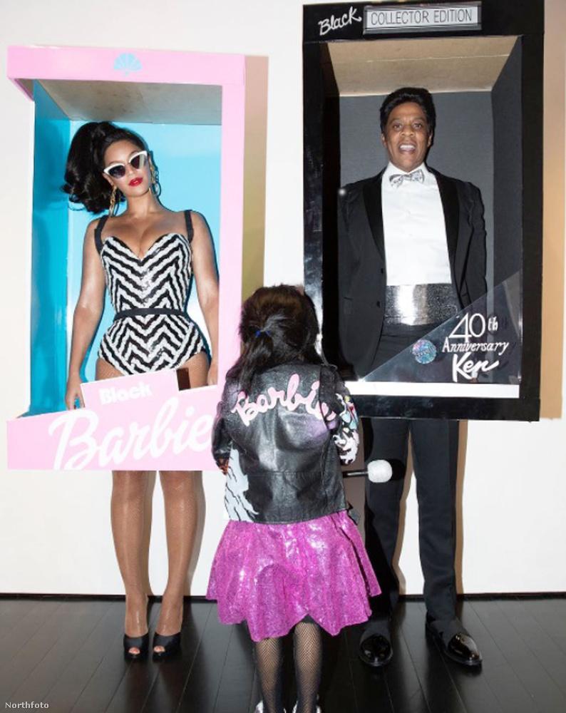 És itt nyert igazi értelmet a szettek összessége, Jay-Z rapper, Beyoncé férje lett retró Ken.