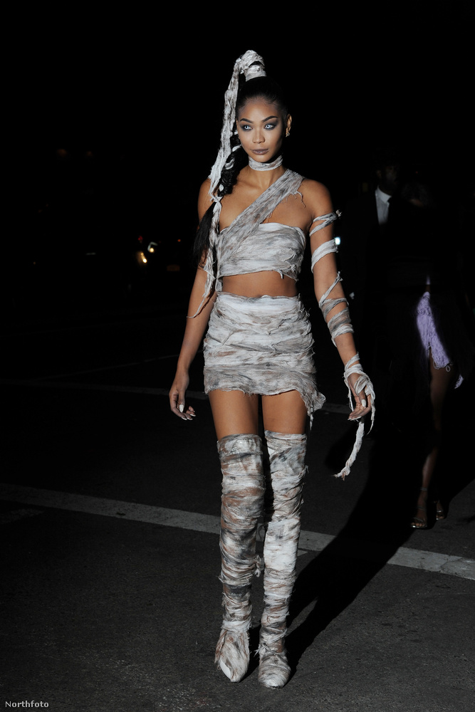 Vissza New Yorkba! Ő Chanel Iman modell.