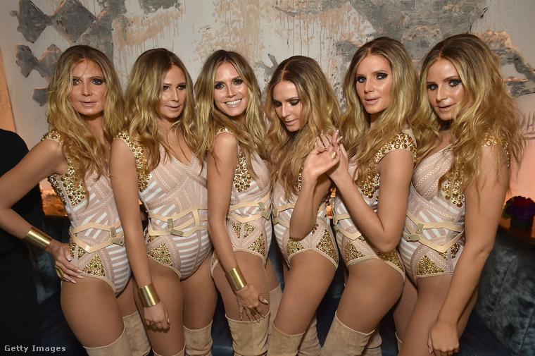 Heidi Klum idén Heidi Klum volt                         és csinált még magának öt klónt!
