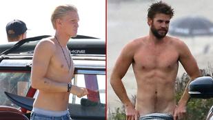 Liam Hemsworth és Cody Simpson ugyanott félmeztelenkedett