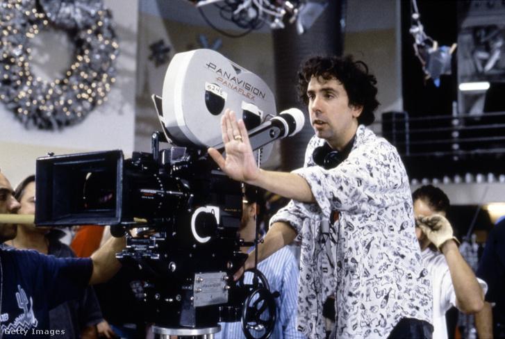 Tim Burton a Batman forgatásán.