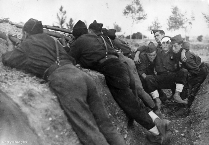 Nacionalista harcosok Madrid ostroma alatt.