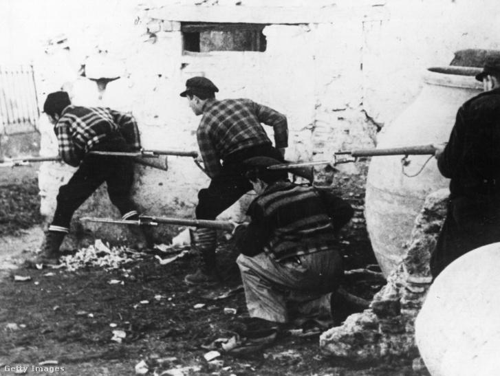 Harcok Madridban 1936-ban, a spanyol polgárháború alatt.