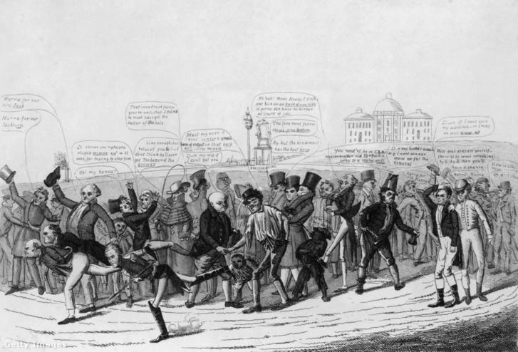 Elnökjelöltek futóversenye a Fehér Házig (~1830)