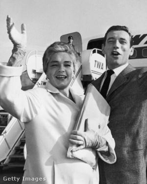 Montand és Simone Signoret első hollywoodi útjukon, 1959-ben