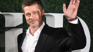 Visszatért Brad Pitt, és hát igencsak összekapta magát!