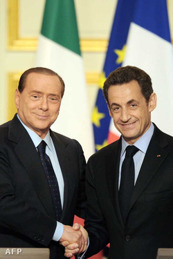 Silvio Berlusconi és Nicolas Sarkozy
