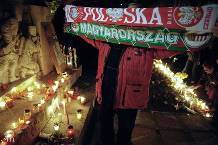 A tegnap esti budapesti megemlékezésen