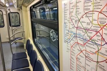 A moszkvai metróhálózat. Az új kocsikon alap az ingyenes wifi.