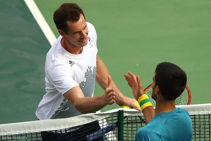 Murray és Djokovics a riói olimpián.