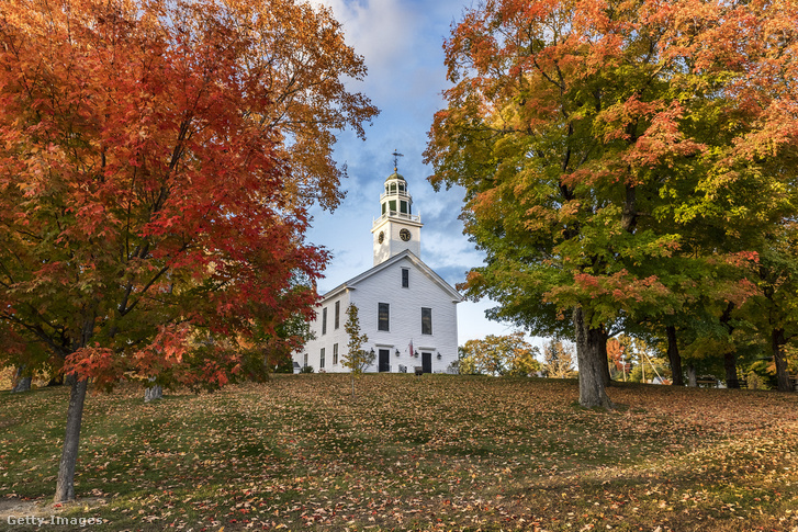 Ősz Greenfieldben, New Hampshire