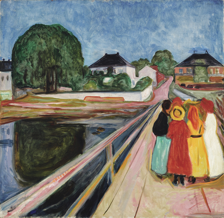 Edvard Munch: Lányok a hídon
