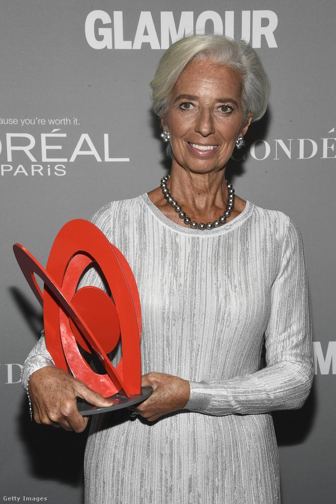 Egy másik díjazott a Nemzetközi Valutaalap vezérigazgatója, Christine Lagarde volt