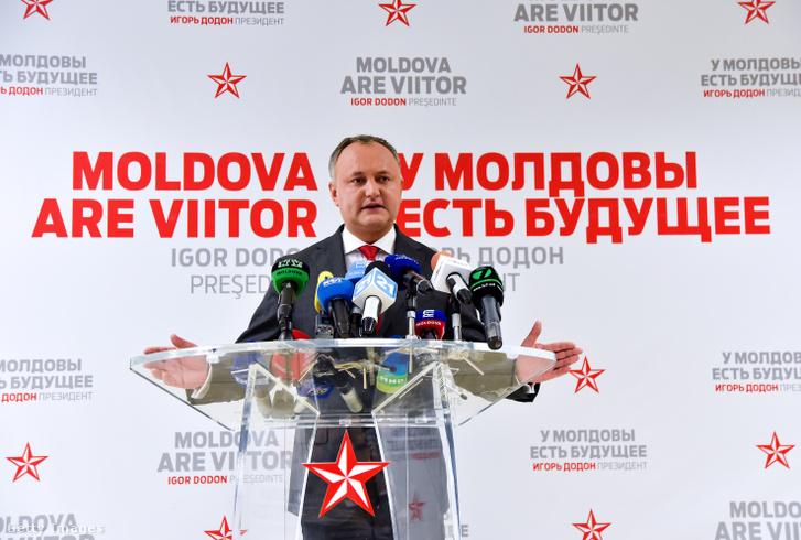 Igor Dodon, frissen megválasztott moldáv elnök