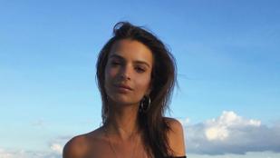 Instahíradó: Emily Ratajkowski meztelenebb mint eddig bármikor