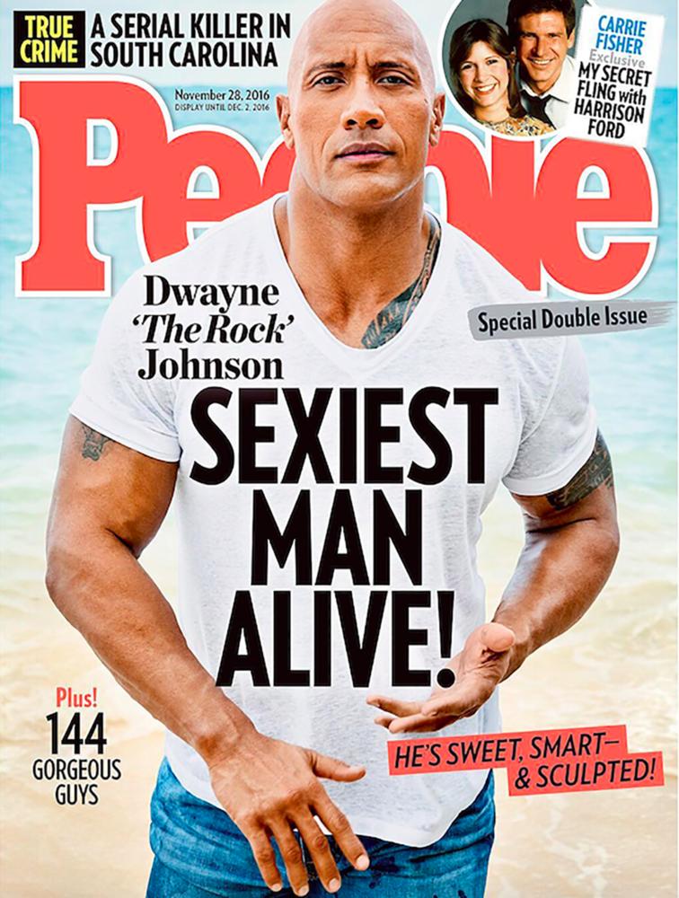 Kedden derült ki, hogy olyanok után, mint David Beckham vagy Chris Hemsworth, Dwayne Johnson lett 2016 szexibb férfija