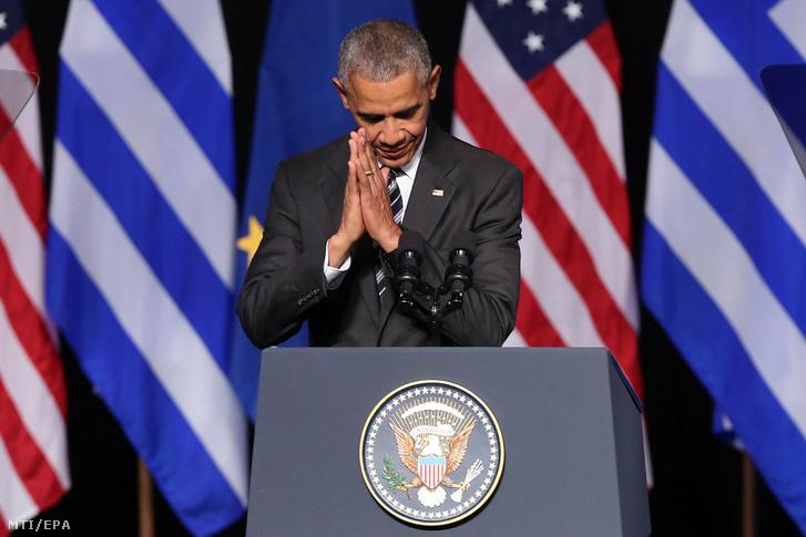 Obama Athénban.