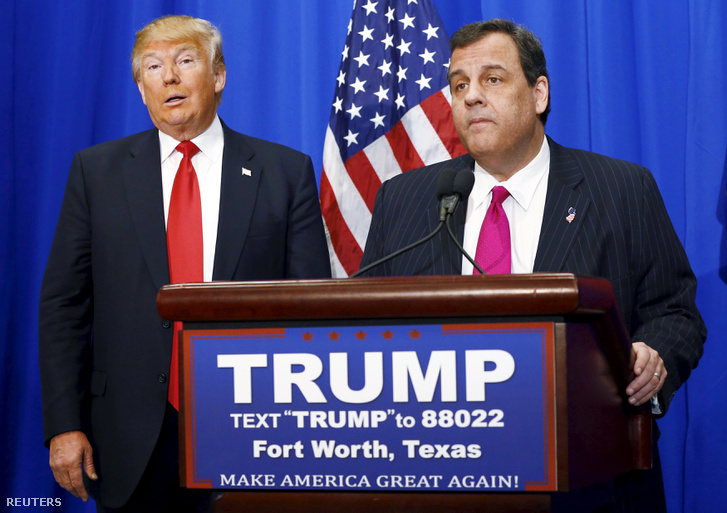 Donald Trump és Chris Christie.