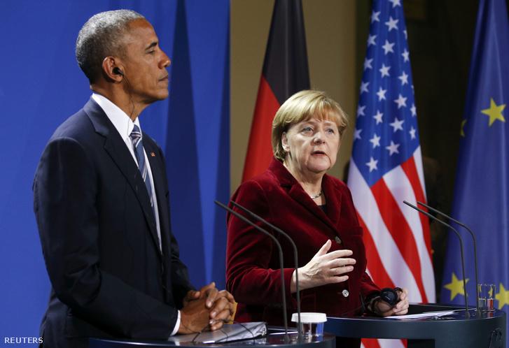 Obama és Merkel Berlinben
