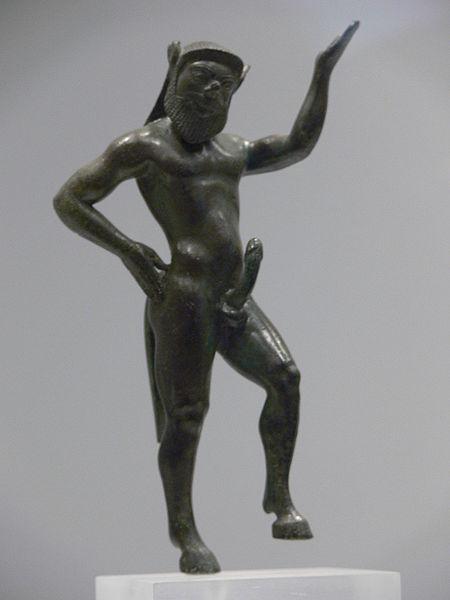 Szatürosz, Silenus, Athéni Archeológiai Múzeum, i.e. 6. sz.