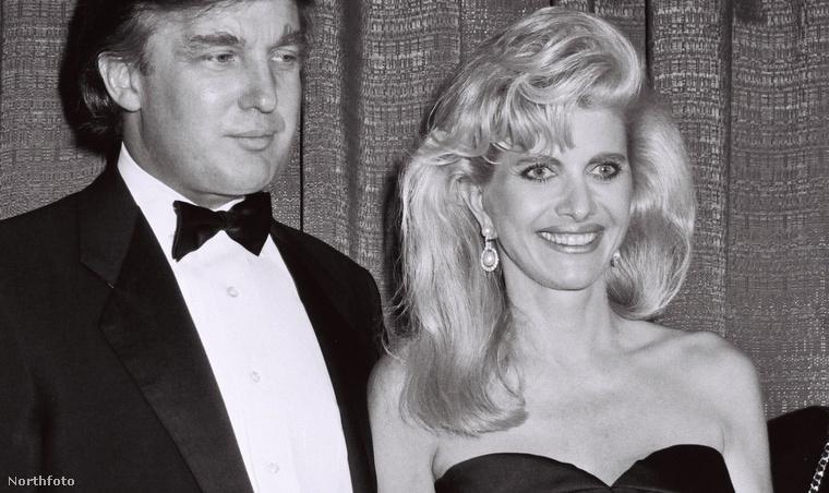 Donald és Ivana Trump két évvel a válás előtt.