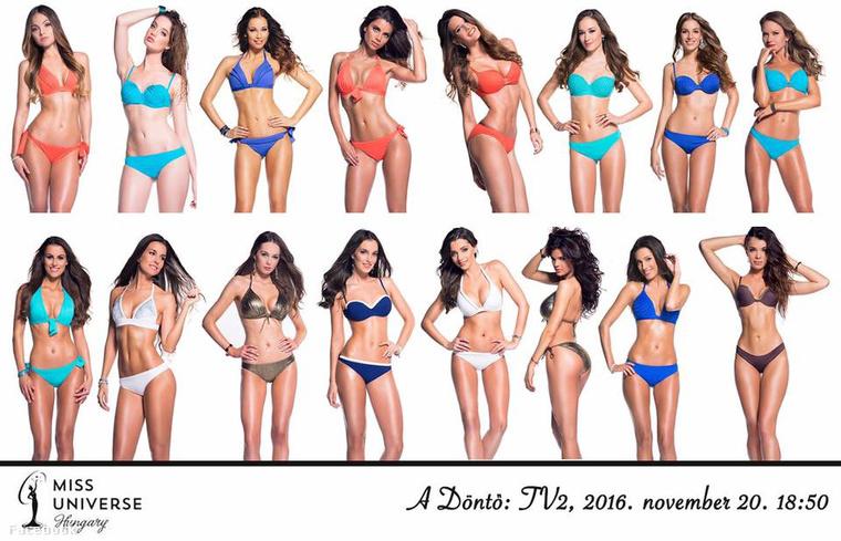 A Miss Universe 2016-os versenyzői fürdőruhában.